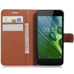 Чехол портмоне подставка на силиконовой основе на магнитной защелке для Acer Liquid Zest