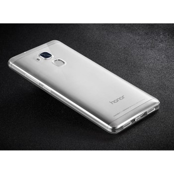 Силиконовый глянцевый транспарентный чехол для Huawei Honor 5C