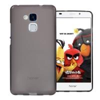 Силиконовый матовый полупрозрачный чехол для Huawei Honor 5C Серый