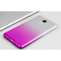 Силиконовый матовый полупрозрачный градиентный чехол для Huawei Honor 5C  Пурпурный
