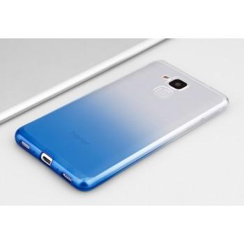 Силиконовый матовый полупрозрачный градиентный чехол для Huawei Honor 5C