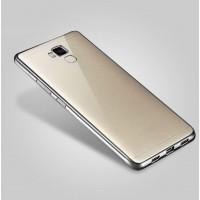 Силиконовый матовый полупрозрачный чехол с текстурным покрытием Металлик для Huawei Honor 5C  Серый