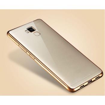 Силиконовый матовый полупрозрачный чехол с текстурным покрытием Металлик для Huawei Honor 5C