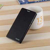Чехол горизонтальная книжка подставка на пластиковой основе для Huawei Honor 5C  Черный