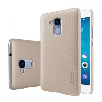 Пластиковый непрозрачный матовый нескользящий премиум чехол для Huawei Honor 5C