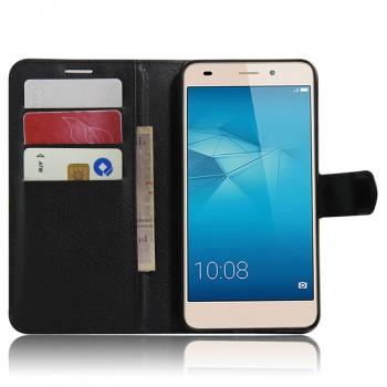 Чехол портмоне подставка на силиконовой основе на магнитной защелке для Huawei Honor 5C