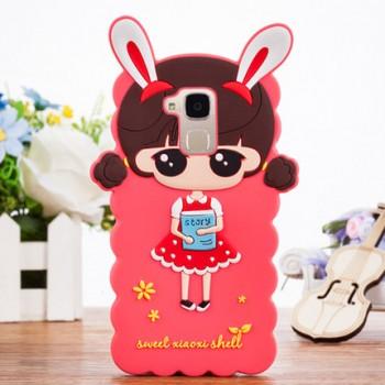 Силиконовый матовый непрозрачный дизайнерский фигурный чехол для Huawei Honor 5C
