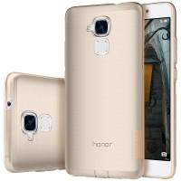 Силиконовый матовый полупрозрачный чехол с улучшенной защитой элементов корпуса (заглушки) для Huawei Honor 5C