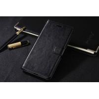 Глянцевый чехол портмоне подставка на пластиковой основе на магнитной защелке для Huawei Honor 5C Черный