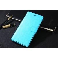 Глянцевый чехол портмоне подставка на пластиковой основе на магнитной защелке для Huawei Honor 5C Голубой