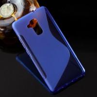 Силиконовый матовый полупрозрачный чехол с дизайнерской текстурой S для Huawei Honor 5C Синий