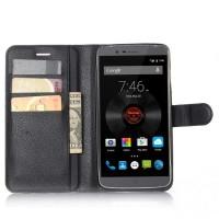 Чехол портмоне подставка на силиконовой основе на магнитной защелке для Elephone P8000  Черный