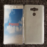 Силиконовый матовый полупрозрачный чехол для Elephone P9000 Белый