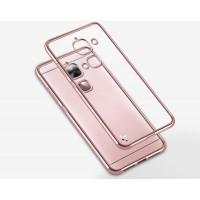 Силиконовый матовый полупрозрачный чехол с текстурным покрытием Металлик для LeEco Le 2  Розовый
