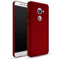 Пластиковый непрозрачный матовый чехол с улучшенной защитой элементов корпуса для LeEco Le 2 Красный