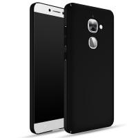 Пластиковый непрозрачный матовый чехол с улучшенной защитой элементов корпуса для LeEco Le 2 Черный