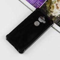 Силиконовый матовый полупрозрачный чехол с усиленными углами для LeEco Le 2 Черный