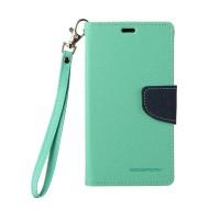 Чехол портмоне подставка на силиконовой основе на дизайнерской магнитной защелке для Sony Xperia Z Зеленый