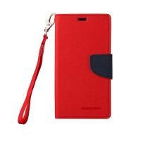 Чехол портмоне подставка на силиконовой основе на дизайнерской магнитной защелке для Sony Xperia Z Красный