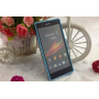 Силиконовый матовый полупрозрачный чехол бампер для Sony Xperia Z