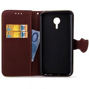 Чехол портмоне подставка на силиконовой основе на дизайнерской магнитной защелке для Meizu M2 Note