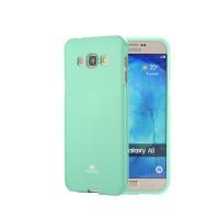 Силиконовый глянцевый непрозрачный чехол для Samsung Galaxy J1 (2016)  Зеленый