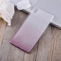 Силиконовый матовый полупрозрачный градиентный чехол для Sony Xperia XA Бордовый