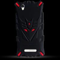 Силиконовый матовый непрозрачный дизайнерский фигурный чехол для ZTE Blade X3  Красный