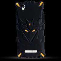 Силиконовый матовый непрозрачный дизайнерский фигурный чехол для ZTE Blade X3  Желтый