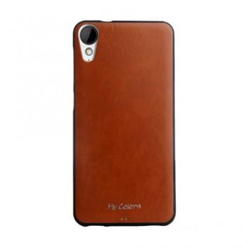 Чехол накладка текстурная отделка Кожа для HTC Desire 825
