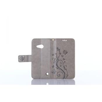Чехол портмоне подставка текстура Узоры на силиконовой основе на магнитной защелке для Microsoft Lumia 550
