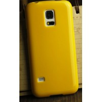 Силиконовый глянцевый непрозрачный чехол для Samsung Galaxy S5 Mini Желтый