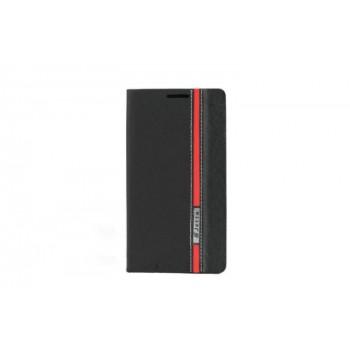Чехол горизонтальная книжка подставка текстура Линии на силиконовой основе с отсеком для карт для Samsung Galaxy S5 Mini