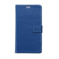 Кожаный чехол портмоне подставка на силиконовой основе на магнитной защелке для LG X cam  Синий