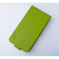 Чехол вертикальная книжка на пластиковой основе на магнитной защелке для LG X cam  Зеленый