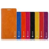 Вощеный чехол горизонтальная книжка подставка на пластиковой основе на присосках для Microsoft Lumia 640 XL