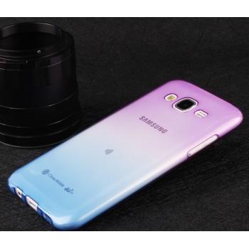 Силиконовый матовый полупрозрачный градиентный чехол для Samsung Galaxy J5