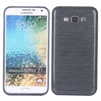 Силиконовый матовый полупрозрачный чехол с текстурным покрытием Металл для Samsung Galaxy J5