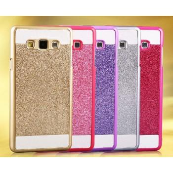 Пластиковый непрозрачный матовый чехол текстура Золото для Samsung Galaxy J5