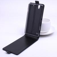 Глянцевый чехол вертикальная книжка на силиконовой основе на магнитной защелке для Sony Xperia C4