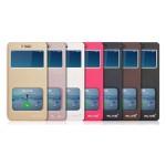 Чехол горизонтальная книжка подставка на пластиковой основе с окном вызова и свайпом для Xiaomi RedMi 3 Pro/3S