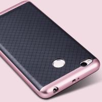 Двухкомпонентный силиконовый матовый непрозрачный чехол с поликарбонатным бампером для Xiaomi RedMi 3 Pro/3S Розовый