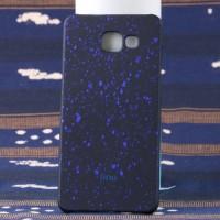 Пластиковый непрозрачный матовый чехол с голографическим принтом Звезды для Samsung Galaxy A5 (2016) Синий