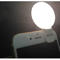 Автономная круглая LED-вспышка 65мАч на клипсе для OnePlus 3