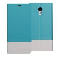 Чехол горизонтальная книжка подставка текстура Линии на пластиковой основе для Meizu M3 Note  Голубой