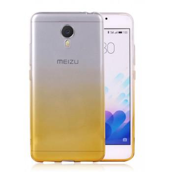 Силиконовый матовый полупрозрачный градиентный чехол для Meizu M3 Note
