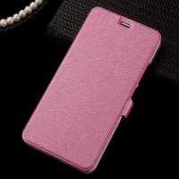 Чехол горизонтальная книжка подставка на пластиковой основе на магнитной защелке для Meizu M3 Note Розовый