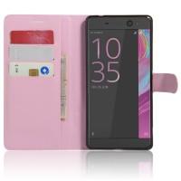 Чехол портмоне подставка на силиконовой основе на магнитной защелке для Sony Xperia XA Ultra  Розовый