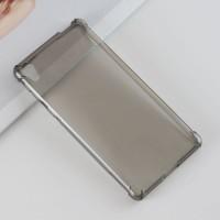 Силиконовый матовый полупрозрачный чехол с усиленными углами для Sony Xperia E5 Серый