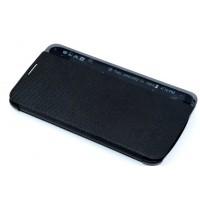 Чехол горизонтальная книжка на пластиковой основе с окном вызова для LG K10  Черный